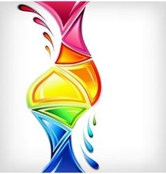 Splash in various colours vector
