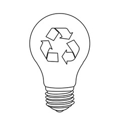 figure bulb eco icon vector image