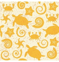 Seamless pattern with sea animals vector