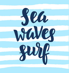 sea waves surf vector image