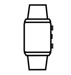 Digital watch icon vector