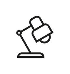Reading-lamp icon on white background vector