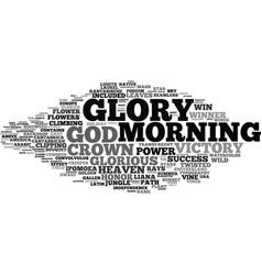 Glory word cloud concept vector