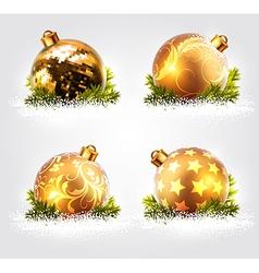 Christmas balls design vector image
