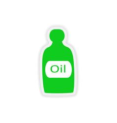 Icon sticker realistic design on paper oil vector