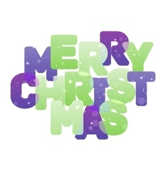 Merry christmas multicolor lettering vector