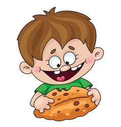 Boy with a pie vector