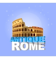 Coliseum in rome italy colosseum vector