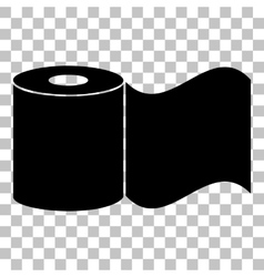 Toilet paper sign flat style black icon on vector