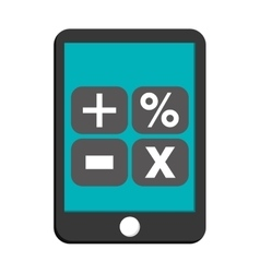 Smartphone calculator math icon vector