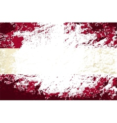 Austrian flag Grunge background vector image vector image