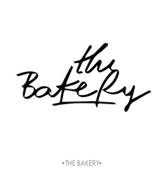 Bakery Hand drawn calligraphy lettering branding vector image vector image