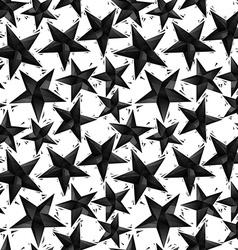 Black stars seamless pattern geometric vector image vector image