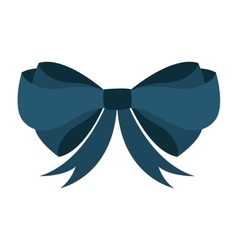 bow ribbon blue icon vector image