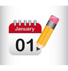 cute calendar vector image