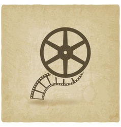 Film roll old background vector