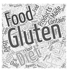Gluten Free Diet Word Cloud Concept vector image
