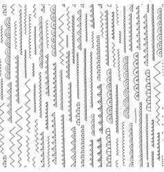 hand drawn abstract pattern seamless vector image vector image