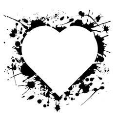 ink heart vector image vector image
