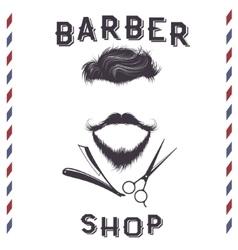 Label for barber shop design vector