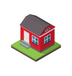 Residential isometric house isolated on white vector