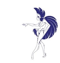 Silhouette design of dancing samba queen vector