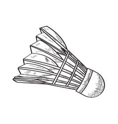 sketch of a badminton shuttlecock vector image