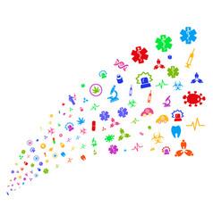 source stream of medical symbols vector image vector image