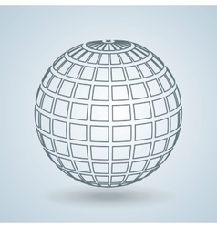 sphere icon design vector image