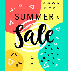 summer sale banner template vector image vector image