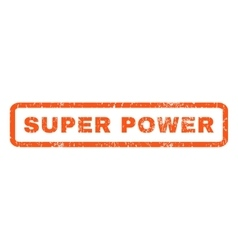 Super Power Rubber Stamp vector image