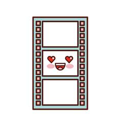 Tape record kawaii character vector