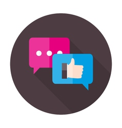 Testimonials Flat Circle Icon vector image
