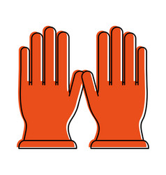 two gloves icon image vector image