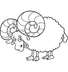 Zodiac aries or ram coloring page vector