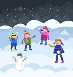 Fun on snow vector