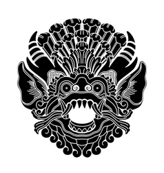 mythological ethnic gods head vector image