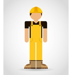 builder man vector image