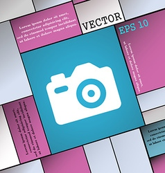 Photo camera icon sign modern flat style for your vector