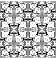 Design seamless monochrome ellipse pattern vector