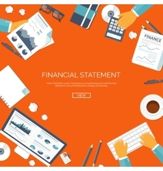 Financial statement and daily vector