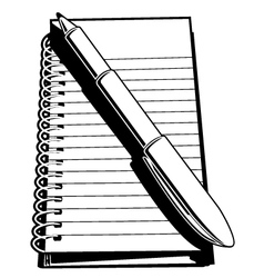 Note Pad and Pen vector image