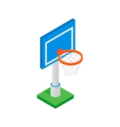 Basketball goal on a playground isometric 3d icon vector image