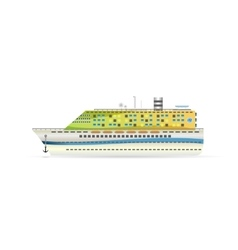 A cruise liner vector
