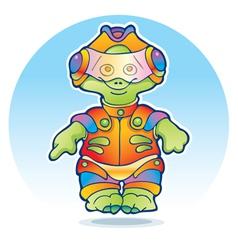 Funny alien wearing space suit vector image