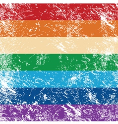 Gay rights flag vector image