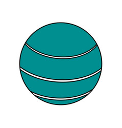 Ball sport blue flat vector