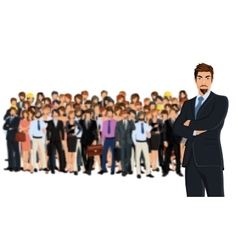 Business team group vector image vector image