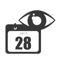 calendar with human eye vector image