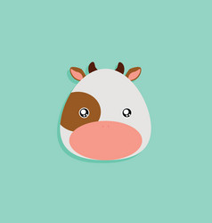Cartoon cow face vector